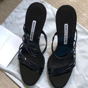 Black patent Manolo Blahnik heels